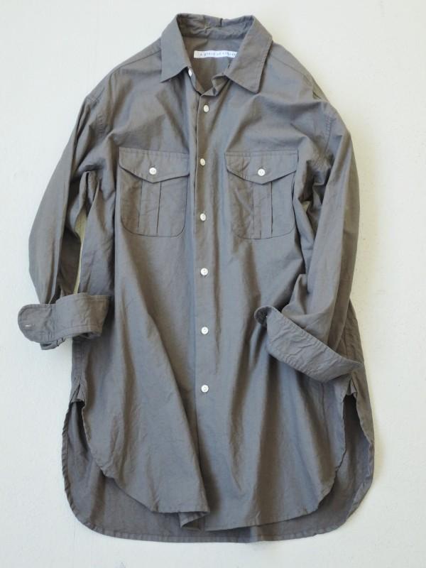 416311 プランテーションロングシャツ ¥19.000+tax Col.#1生成りカス残 #2カーキ Del.8月