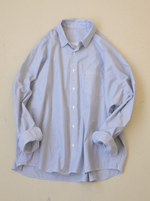 416313 セントマーチンシャツ ¥15.000+tax Col.#1ネイビー細ストライプ #2ネイビー太ストライプ Del. 9月