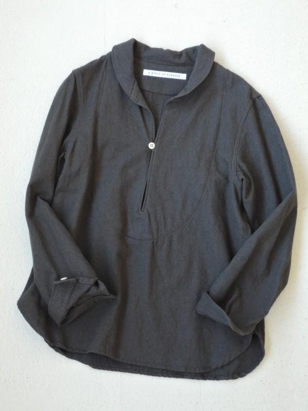 416321サージコートシャツ ¥16.000+tax Col.#1カーキ #2ロイヤルネイビー Del.9月