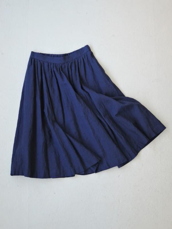 616307 ハーモニックデイジースカート ¥23.500+tax Col.#1カーキブラウン #2ネイビー Del. 10月