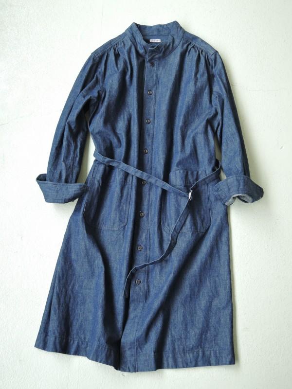 816301 ジャーマンブルーワンピース ¥21.000+tax Col.#1インディゴネイビー Del.8月