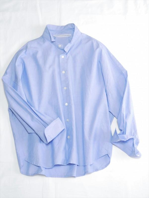 417103 ペールブルーシャツ ¥13.500+tax Col.#1オフ白#2ブルー Del.2月