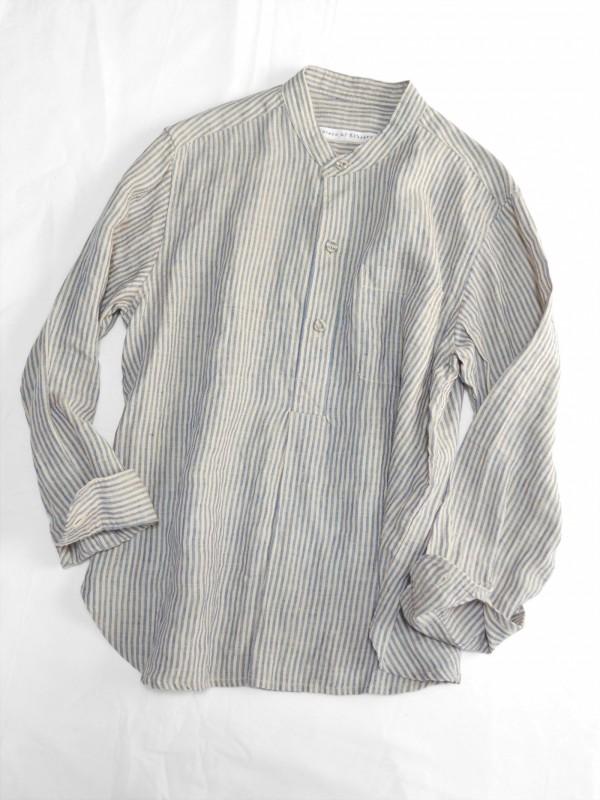 417110 クラシックプリズナーシャツ ¥18.000+tax Col.#1細ストライプ#2太ストライプ Del.1月