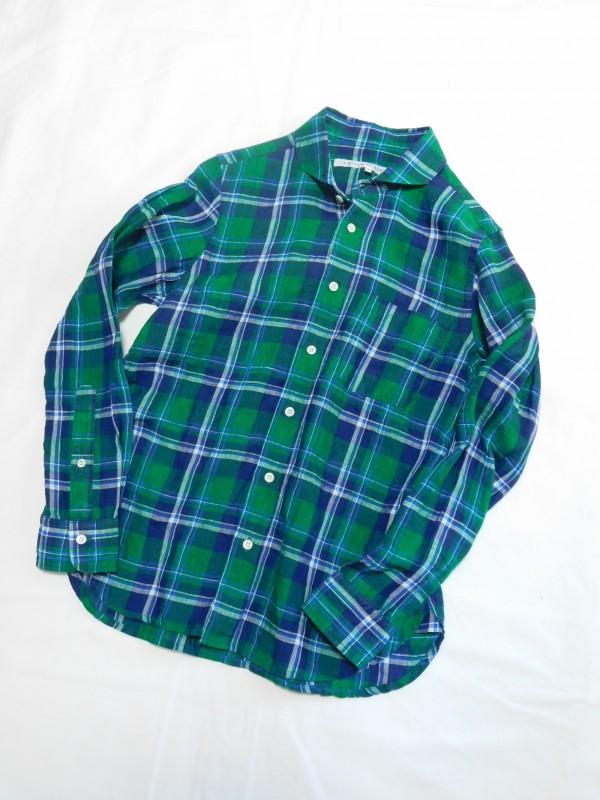417113 サンタモニカシャツ ¥15.000+tax Col.#1ピンク系#2グリーン系 Size#1#2 Del.2月