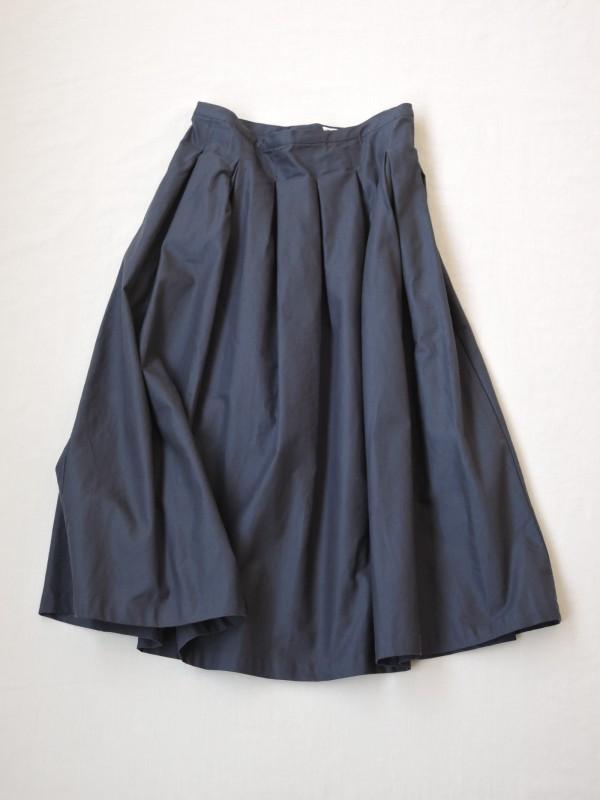 617303 ミリタリーサージスカート ¥16.000+tax Col.#1ベージュ#2ネイビー Size#1#2 Del.8月