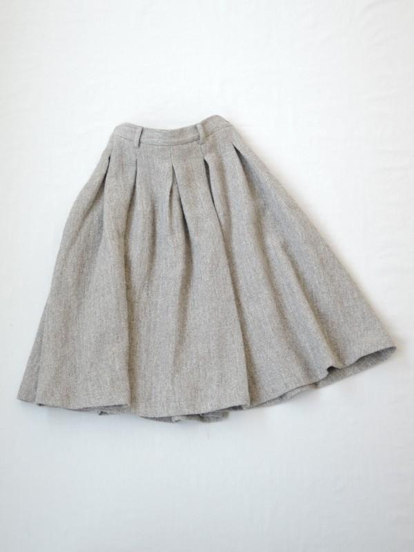 617306 ハンフリーヘリンボンスカート ¥22.000+tax Col.#1ライトグレー#2ライトブラウン Size#1#2 Del.10月