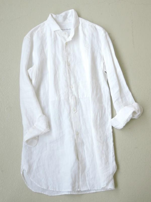 416304 クラシックデコールシャツ ¥18.000+tax Col.#1オフ白 Del.7月