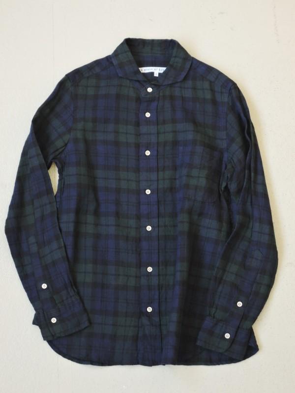 416315 スコットリネンシャツ ¥15.000+tax Col.#1ブラックウォッチ Size#1 #2 Del.9月