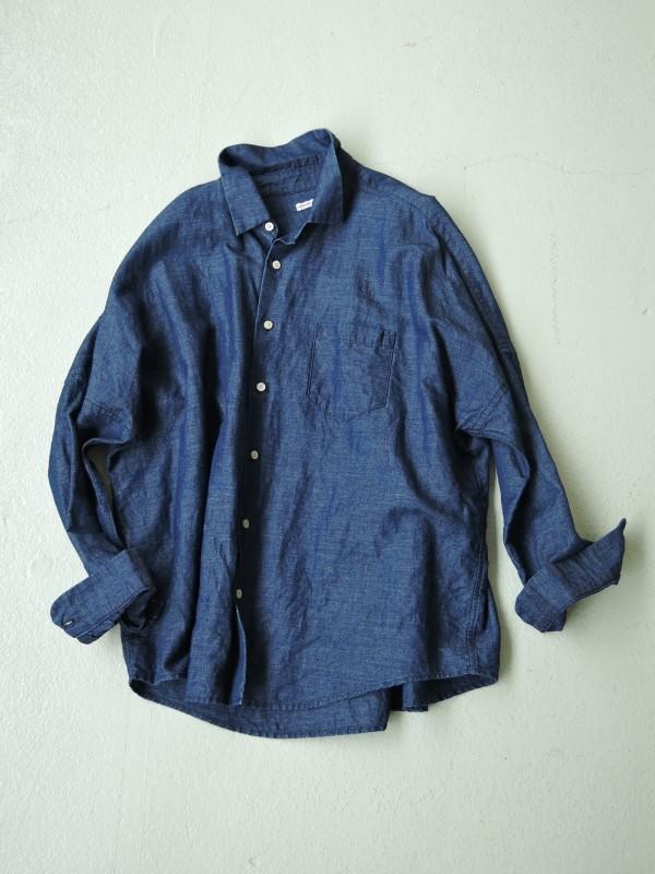 416317 シェーカーブルーシャツ ¥17.000+tax Col.#1インディゴシャンブレー Del.9月