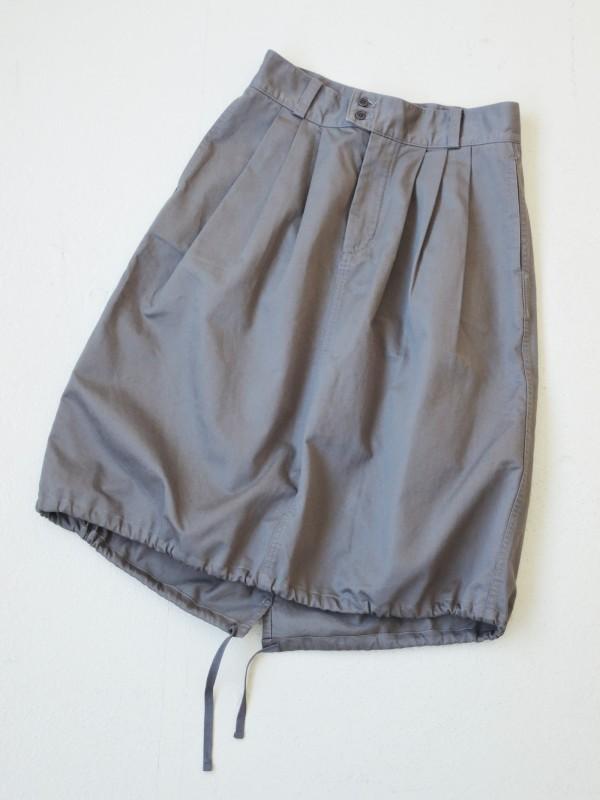 616301 アーミーコードスカート ¥15.000+tax Col.#1ライトベージュ #2カーキ #3チャコールグレー Size#1 #2 Del. 8月