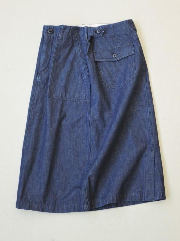616302 ベイカーブルースカート ¥16.000+tax Col.#1インディゴネイビー Size#1 #2 Del. 8月