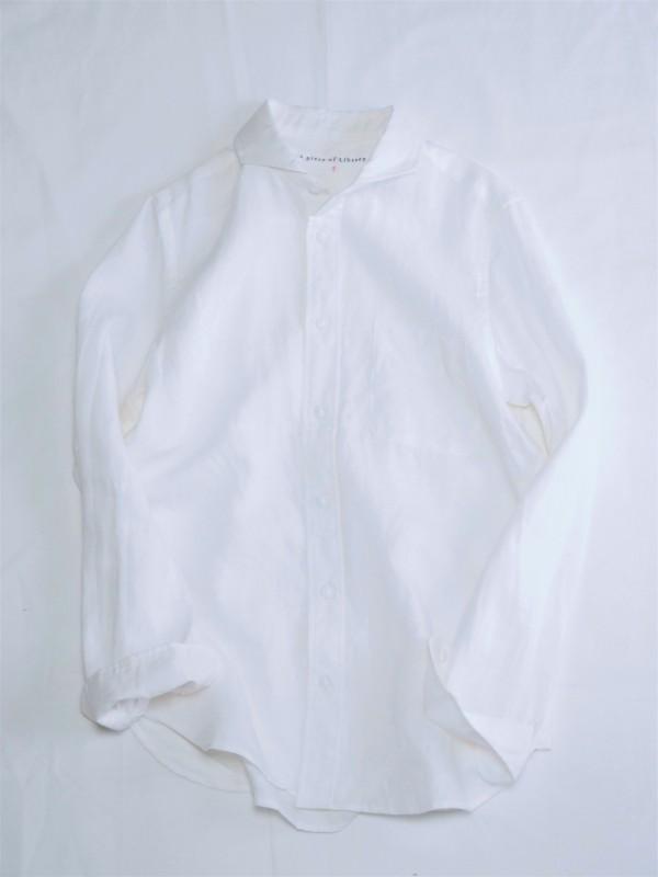 414401 アーネストリネンシャツ ¥14.000+tax Col.#1オフ白 Size#1#2