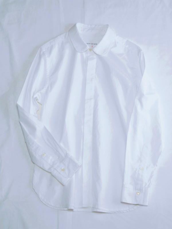 417102 フランシスコブルーシャツ ¥13.500+tax Col.#1オフ白#2ブルー Size#1#2 Del.1月