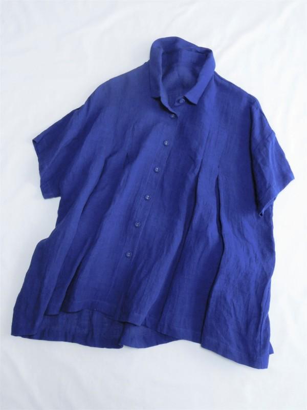 417121 シャンパーニュフレアブラウス ¥16.000+tax Col.#1オフ白#2ロイヤルブルー#3ブラック Del.5月