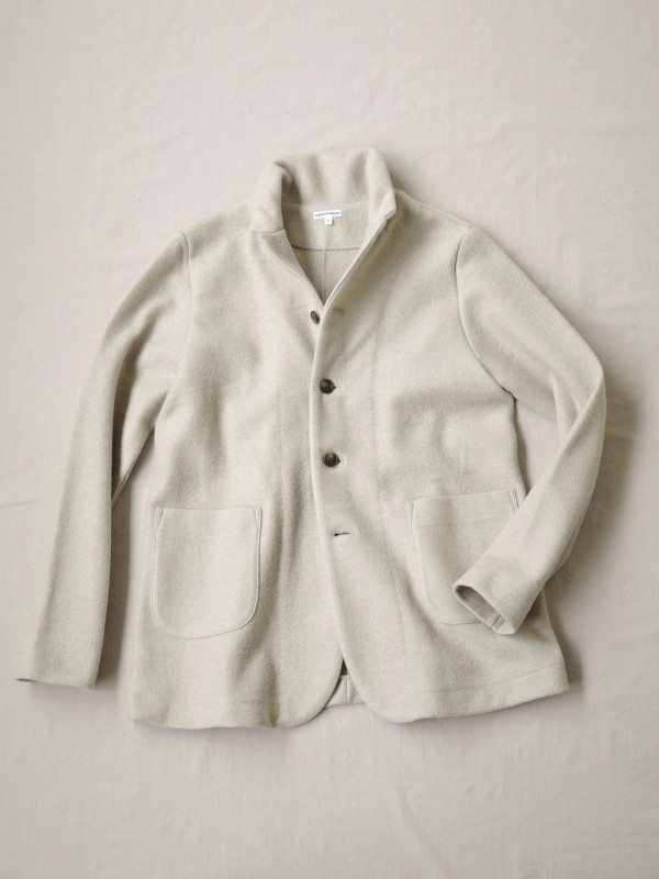 217324 アースリングジャケット ¥20.000+tax Col.#1ベージュ#2ネイビー#3ブラック Size#1#2 Del.10月