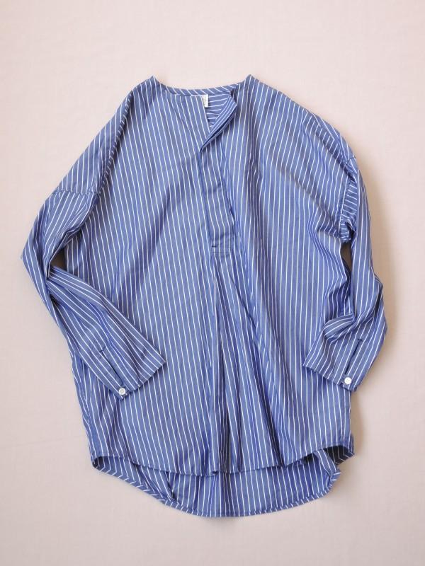 417303 ブルーミングヘンリーシャツ ¥14.000+tax Col.#1ブルーピンst#2白ベースペンシルst#3紺ベースペンシルst Del.8月