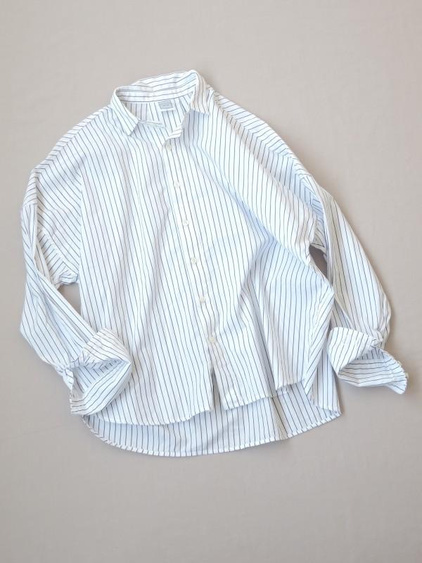 417304 ブルーミンググランドシャツ ¥14.000+tax Col.#1ブルーピンst#2白ベースペンシルst#3紺ベースペンシルst Del.8月